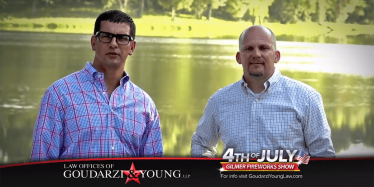 Goudarzi & Young Sponsors 4th of July Fireworks Show in Gilmer, TX